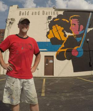 Stephen Decatur Mural by Jerry Johnson