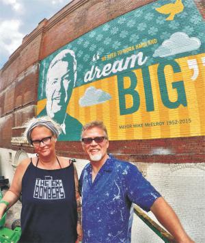 Mayor Mike McElroy Tribute Mural