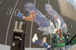 Decatur Staleys / Chicago Bears Mural by Jerry Johnson