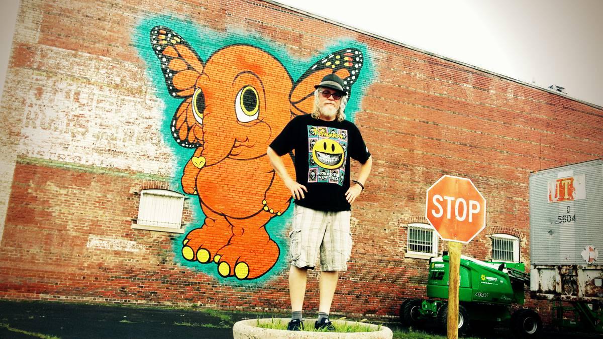 Ron English Mural - Decatur, Illinois